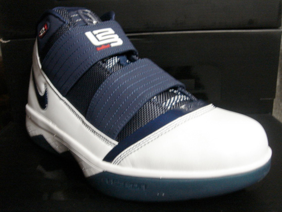 new product f6295 6d533 Nike Zoom Lebron Soldier III (3) - White   Navy   Red