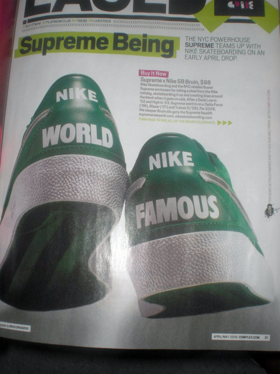 Supreme x Nike SB Zoom Bruin