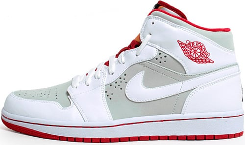 Air Jordan 1 (I) Retro Hare - Easter Bunny Light Silver / White - True Red