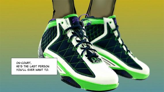 Air Jordan CP3.II - White / Mean Green - Obsidian