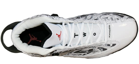 Air Jordan Dub Zero - White / Black - Varsity Red- Cement Grey