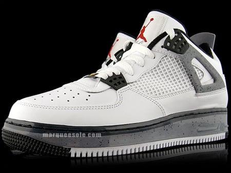 Air Jordan Force Fusion IV (4) - White / Cement Grey - Black