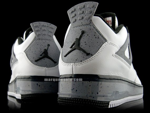 Air Jordan Force Fusion IV (4) - White / Cement Grey - Black