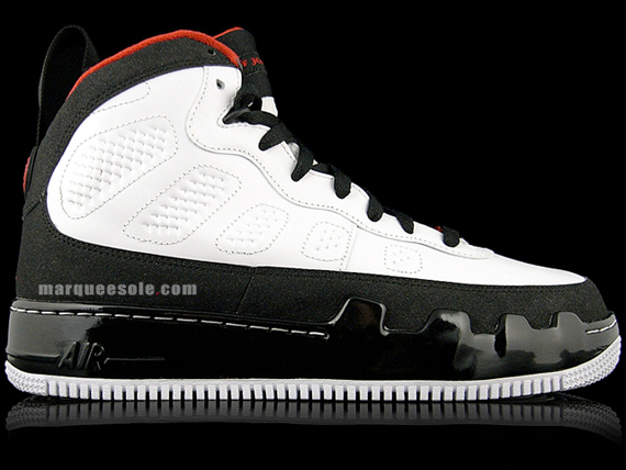 Air Jordan Force Fusion IX (9) - White / Varsity Red - Black | Available Early