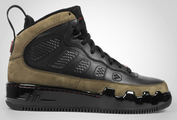 Air Jordan Force IX (9) Premier - Black - Varsity Red - Light Olive