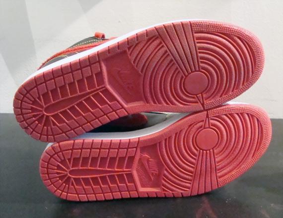 Air Jordan I (1) Low - Black / Varsity Red - Maize