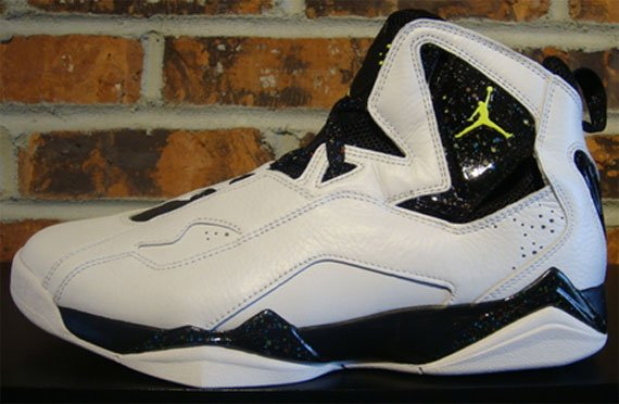 Air Jordan True Flight - White / Neon Yellow / Black