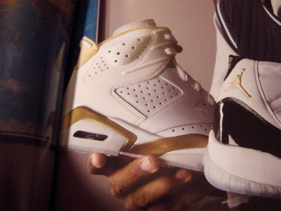 Air Jordan VI (6) Sample - White / Gold