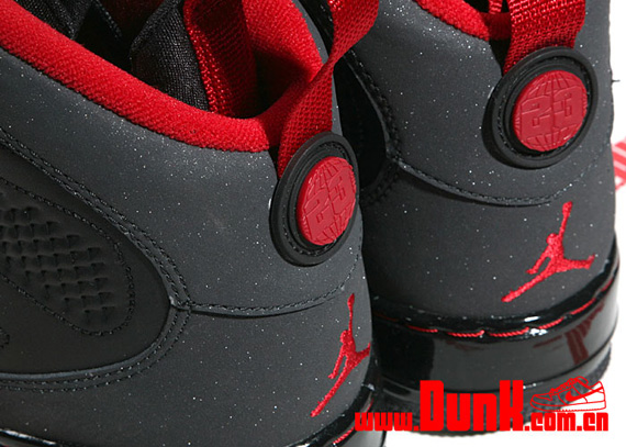 Air Jordan Force Fusion IX (9) - Black / Varsity Red - Dark Charcoal Limited Release