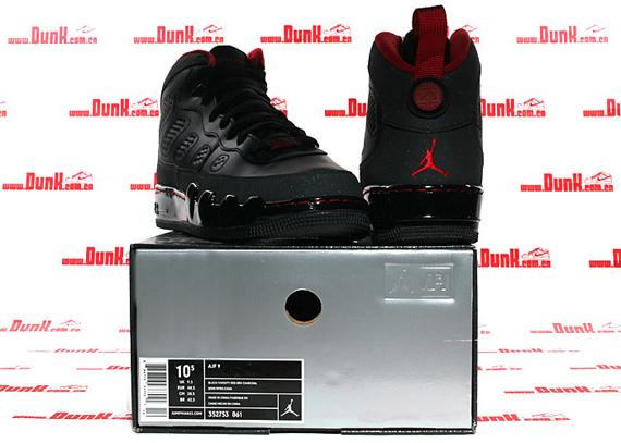 Air Jordan Force Fusion IX (9) - Black / Varsity Red - Dark Charcoal Limited Release
