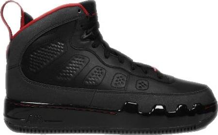 Air Jordan Force Fusion IX (9) - Black / Varsity Red - Dark Charcoal Early Release