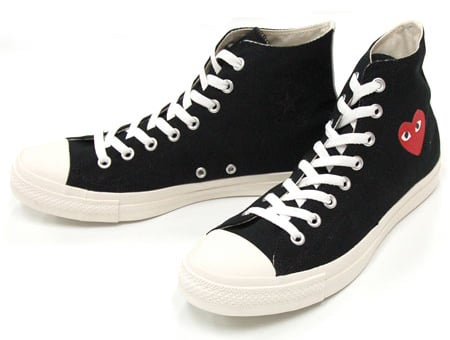 cdg play converse black