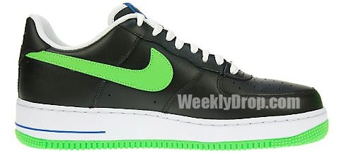 Nike Air Force 1 - Black / Mean Green
