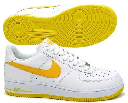 nike air force 1 white and yellow