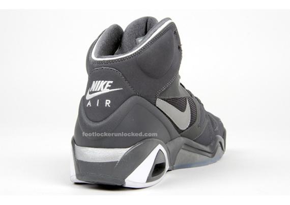 Nike Air Hoop Structure - Grey / Metallic Silver / White