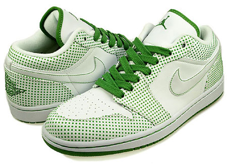 Nike Air Jordan I (1) Phat Low Polka Dot Pack - White / Chlorophyll