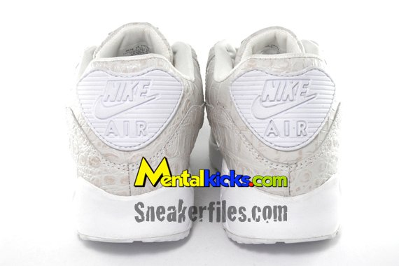 Nike Air Max 90 - White Crocodile Skin | Friends & Family