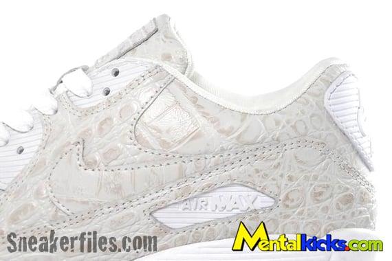 Nike Air Max 90 - White Crocodile Skin | Friends & Family