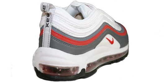 Nike Air Max 97 - White / Varsity Red - Dark Grey - Black