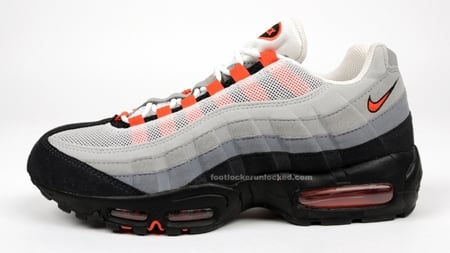 f408e131db Nike Air Max 95 - White / Medium Orange / Grey | May 2009 Release ...
