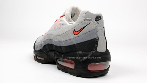 Nike Air Max 95 - White / Medium Orange / Grey | May 2009 Release