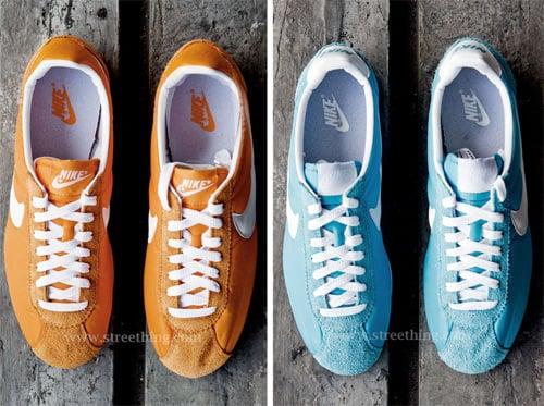 Nike Cortez Nylon - Orange & Blue