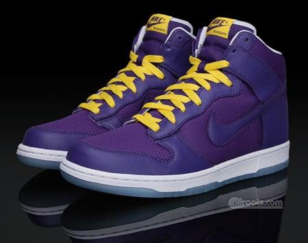 Nike Dunk High Premium - Purple / Yellow