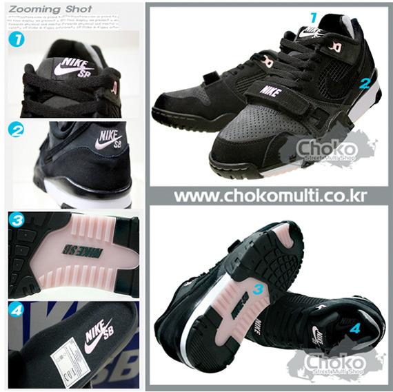 Nike SB Air Trainer 2 - Black / White - Pink