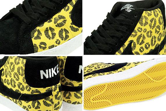 Nike SB Blazer Premium Kiss - Midwest Gold / Black