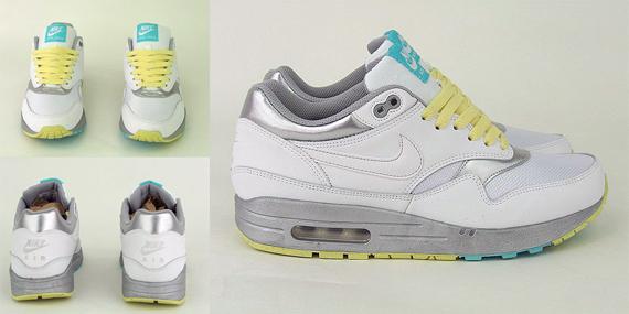 Nike Women Air Max 1 - White / Silver / Lemon