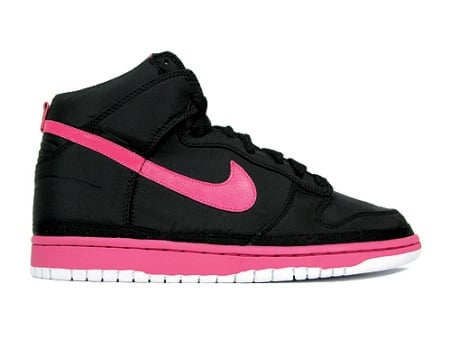 Nike Dunk High Nylon Premium Black / Pink