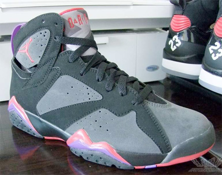 Air Jordan 7 (VII) - Black / Charcoal - Team Red 60+ Pack Bulls vs. Magic