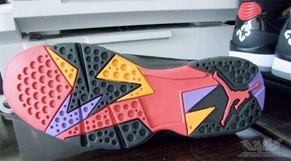 ... Air Jordan 7 (VII) - Black / Charcoal - Team Red 60+ Pack Air Jordan  VII Retro ...