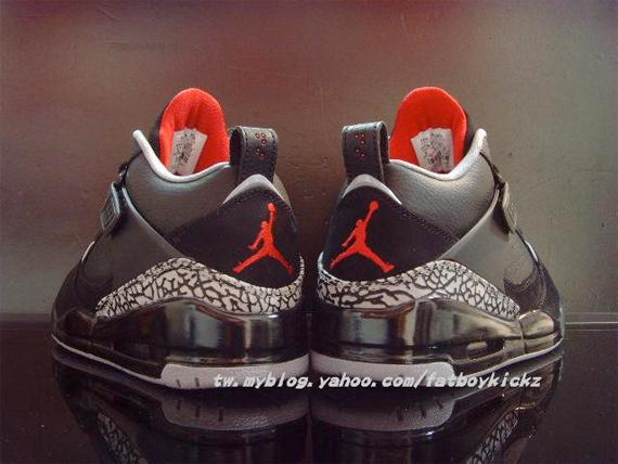 Air Jordan Flight 45 - Black / Cement - Varsity Red