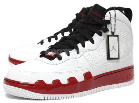 Air Jordan Force 9 - White / Black - Red