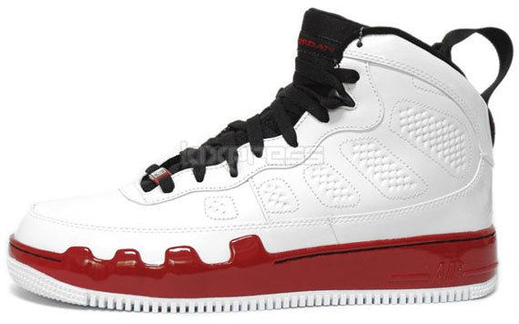 Air Jordan Force 9 - White / Black - Red