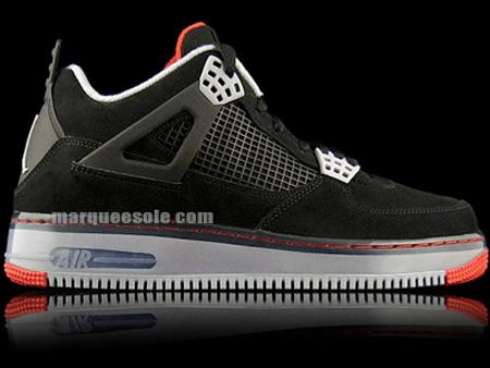 Air Jordan Fusion IV (4) - Black / Cement Grey - Fire Red
