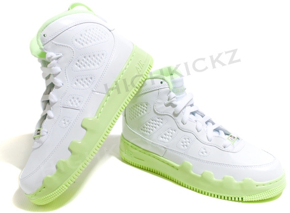 Air Jordan Force Fusion IX (9) GS - White / Lime