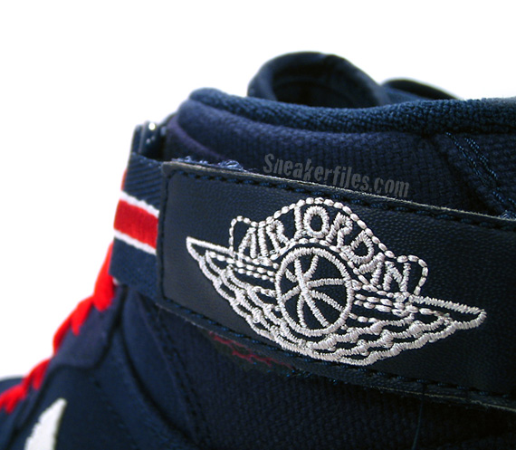 Air Jordan I (1) High Strap - Midnight Navy / Varsity Red - Sail