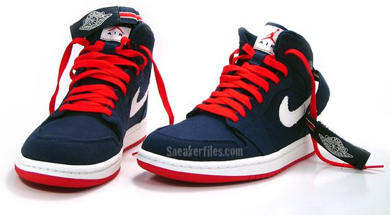 air jordan 1 high strap navy/varsity red