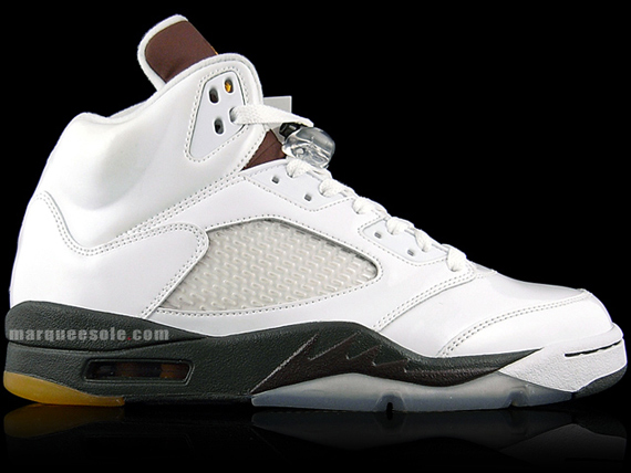 Air Jordan V (5) Look See Sample - White / Dark Army