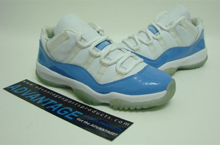 21819597cb58 Air Jordan XI (11) Low FTSS Sample - White   Columbia Blue ...