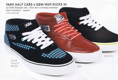 DQM | HUF | KICKS/HI x Vans Half-Cab 3 Feet High Pack Part 2 Preview