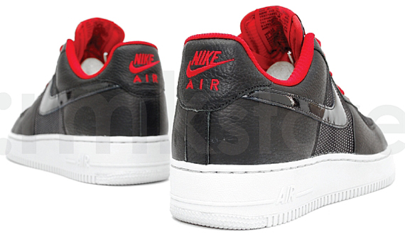 Nike Air Force 1 LeBron - Black / Black - Varsity Red - Neutral Grey