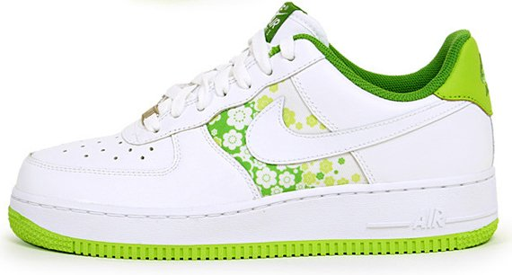 Nike Air Force 1 Womens Low - White / Citron - Sakura