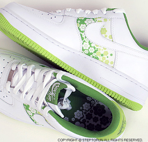 Nike Air Force 1 Womens Low - White / Citron - Sakura