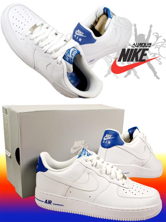 Nike Air Force 1 Low - White / Varsity Royal