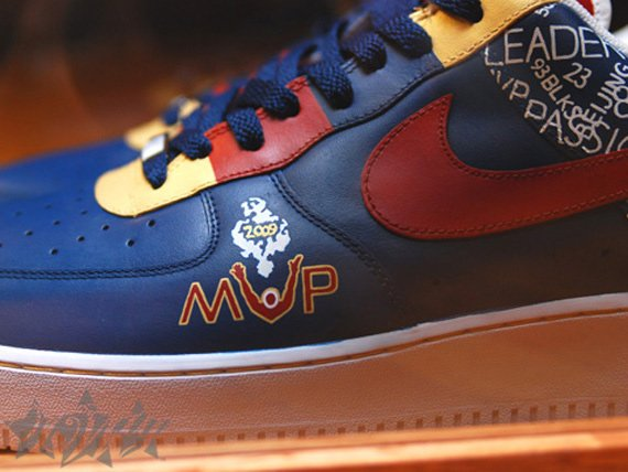 "Nike Air Force 1 Custom LeBron ""MVP"""