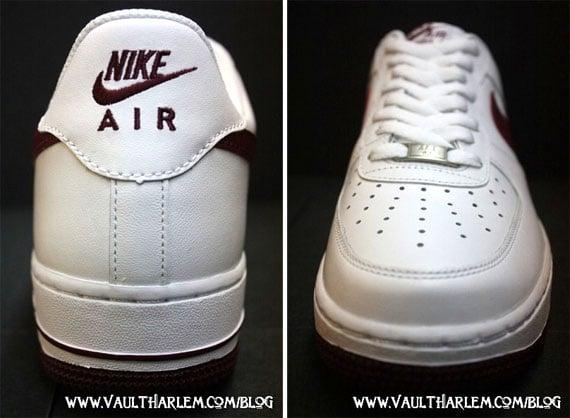 Nike Air Force 1 - White / Team Red - Black