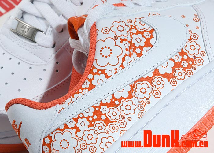 Nike Air Force 1 Womens - White / White - Bright Coral